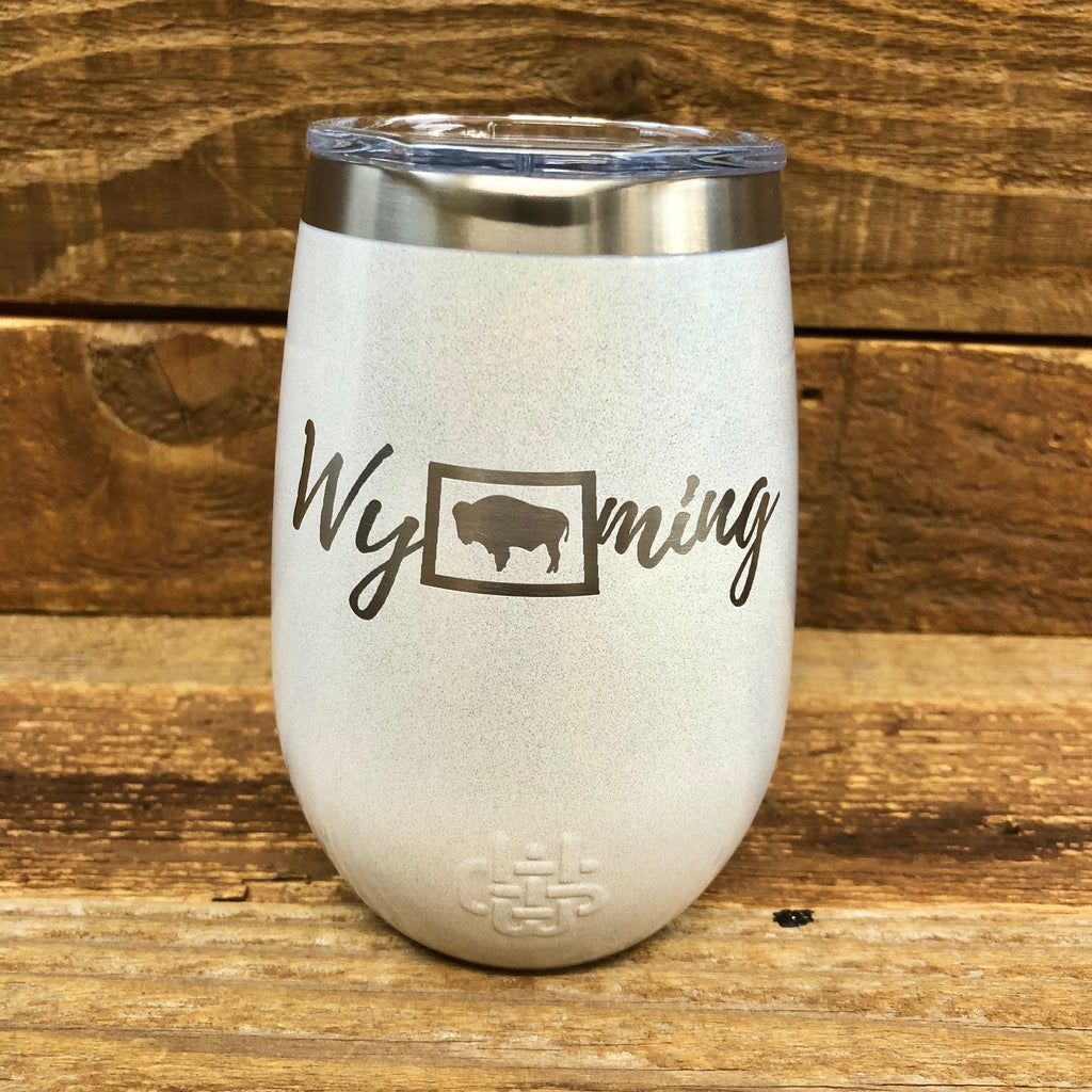 Wyoming Wine Tumbler | 12 oz | Diamond