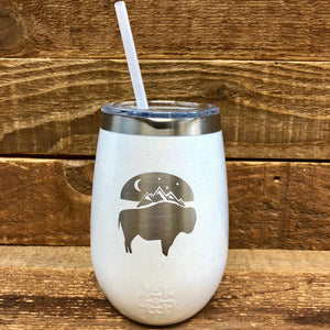 Bison Moon Wine Tumbler | 12 oz | Diamond