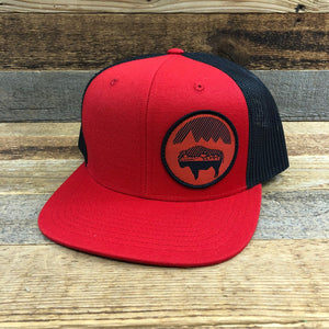 Bison Moon Cityscape Patch Hat | Red