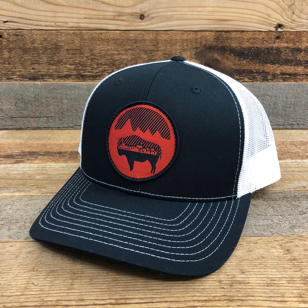 Bison Moon Cityscape Patch Hat | Black/White