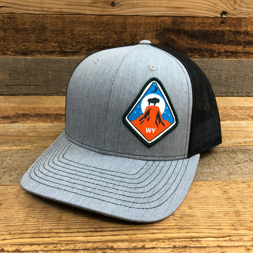Devils Tower Patch Hat | Heather Grey/Black