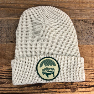 Bison Moon Reflection Waffle Beanie - Birch