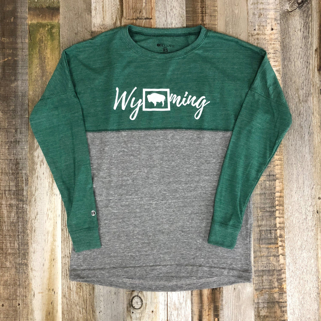 Wyoming Bison Long Sleeve | WyoMade Apparel | Women's