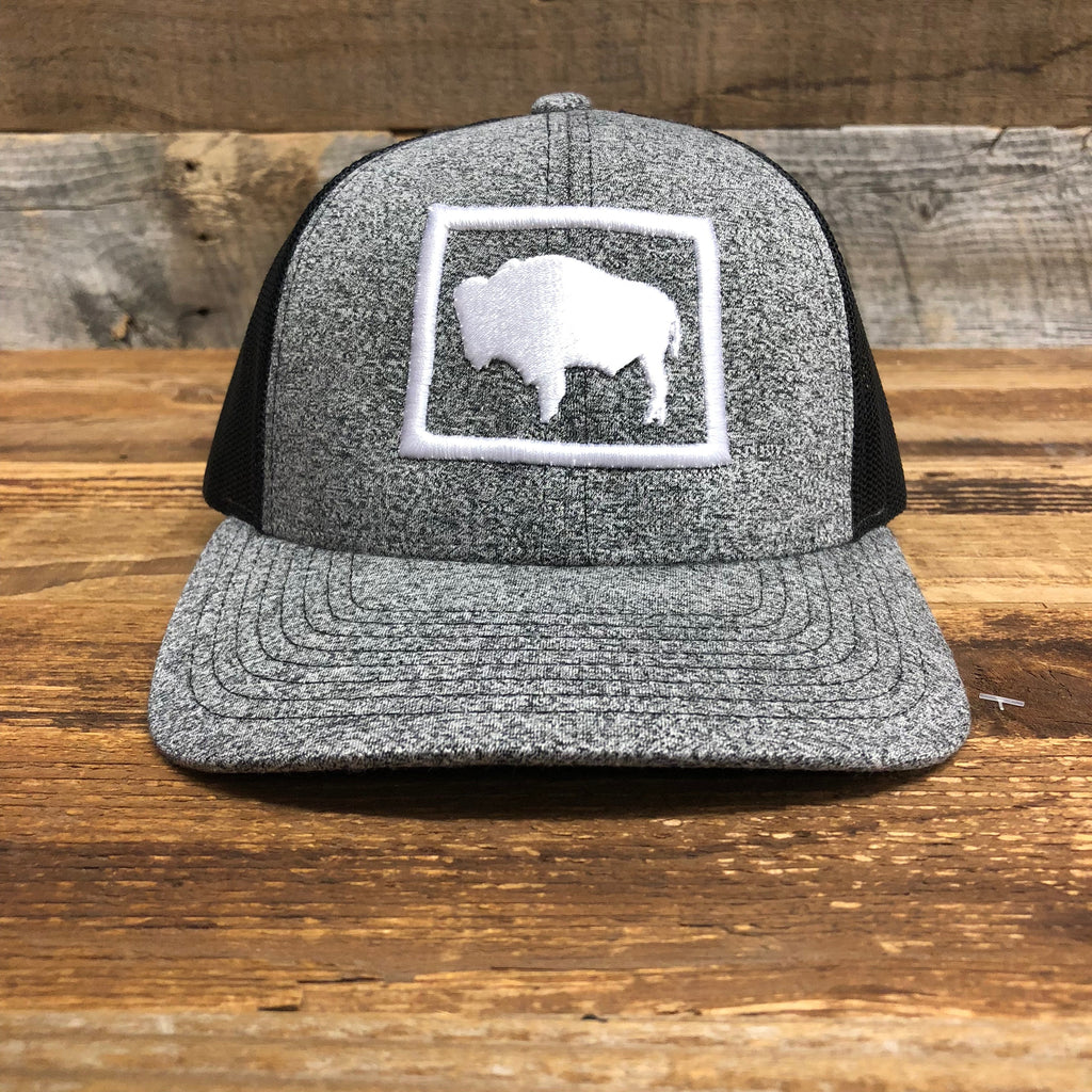 WyoMade Bison Trucker- Grey