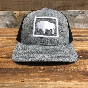 Bison Flag Trucker | WyoMade Apparel | Hats