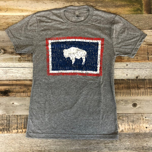 Wyoming Bison Flag Tee | WyoMade Apparel | Unisex