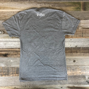 Men's Bison Flag Tee-Heather Grey