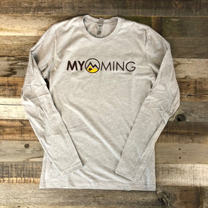 Men's Myoming Long Sleeve- Heather Grey