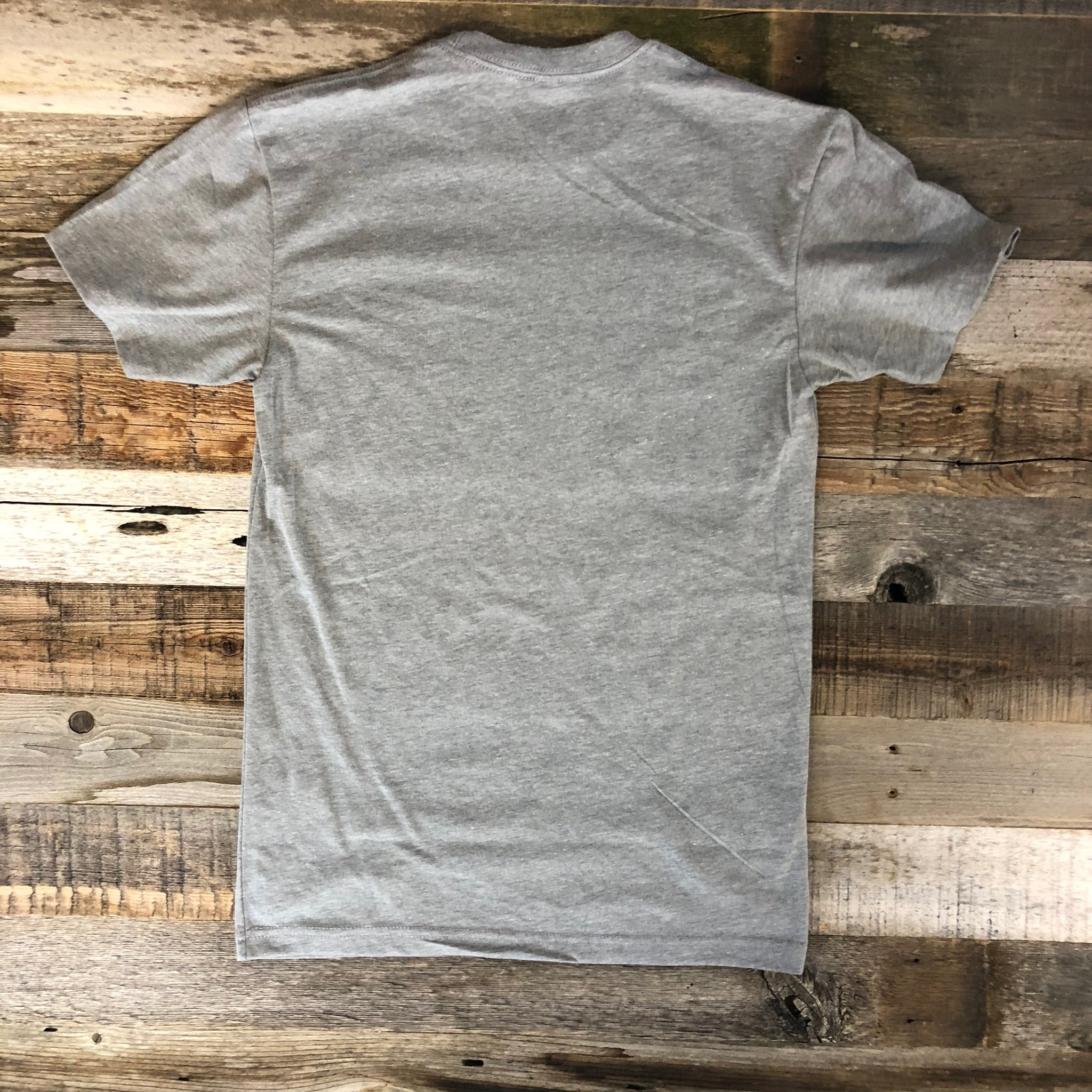 Men's WyoMade Vintage WY Tee- Heather Grey