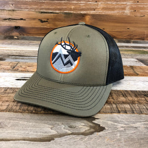 WyoMade Hunting Trucker Hat- Olive Green