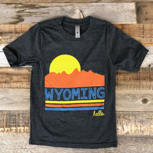 Wyoming Sunset Tee | WyoMade Apparel | Youth
