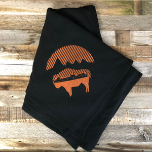 Bison Moon Stadium Blanket- Black