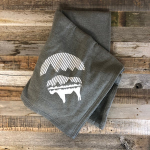 Bison Moon Stadium Blanket- Heather Grey