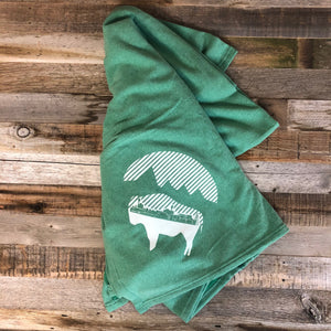 Bison Moon Stadium Blanket- Sea Green