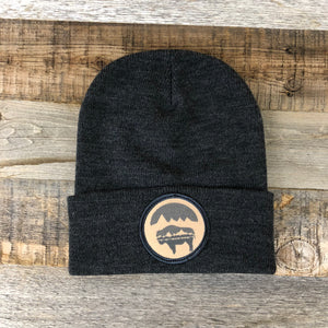 Bison Moon Beanie- Tan Patch