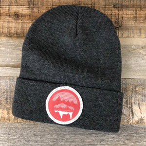 Bison Moon Beanie- Red Patch