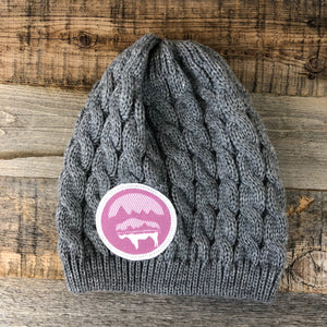 Bison Moon Knit Beanie- Violet Patch