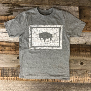 Wyoming Bison Flag Tee | WyoMade Apparel | Youth