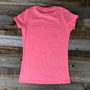 Women's Bison Moon Fit Tee- Pink