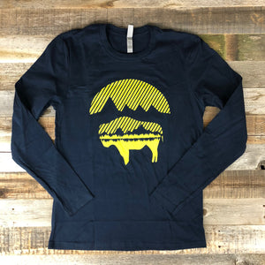 Men's Bison Moon Long Sleeve- Midnight Navy