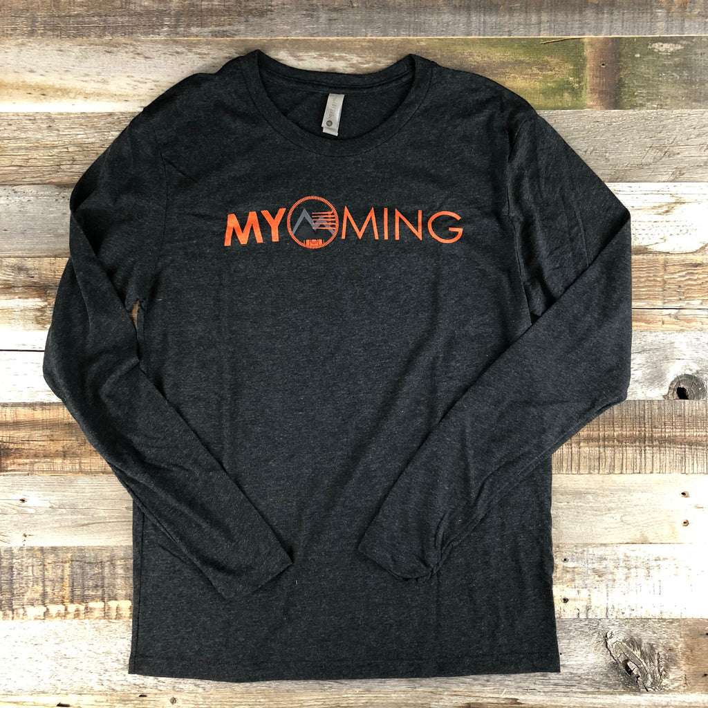 Men's Myoming Hunting Long Sleeve- Charcoal