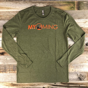 Men's Myoming Hunting Long Sleeve- Olive Green