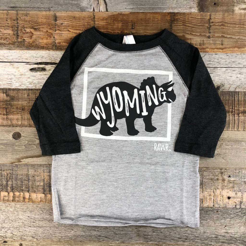Wyoming RAWR Baseball Tee | WyoMade Apparel | Youth