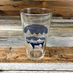 Bison Moon Pint Glass- Reflection