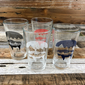 Bison Moon Pint Glass | WyoMade Accessories | 16 oz