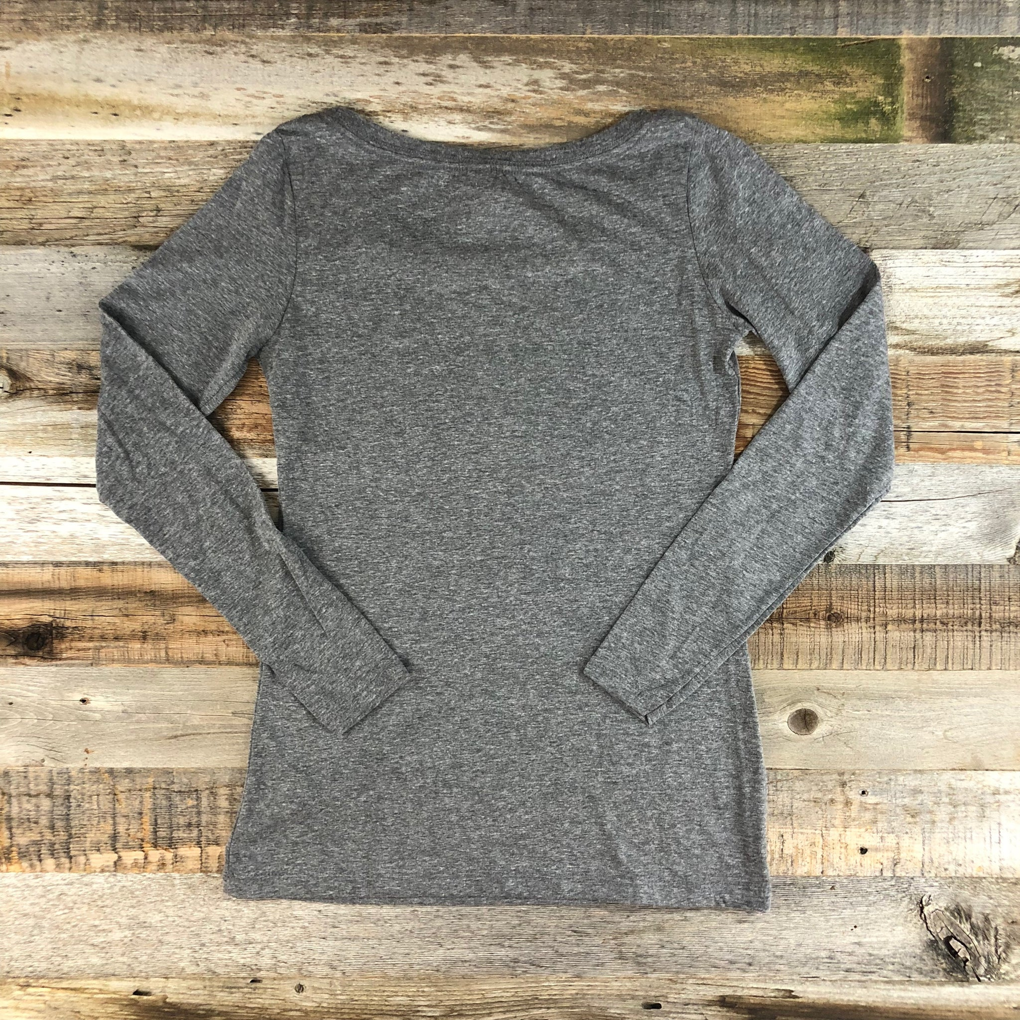 Women's Fish Myoming Long Sleeve- Heather Grey