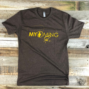 Men's The Myoming Angler Tee- Brown