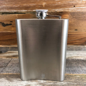 WYO Etched Buffalo Flask- 8oz