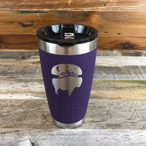 Bison Moon Tumbler | 20 oz | Purple The WyoMade Bison Moon Tumbler is pure beverage containment for 20 ounces of your favorite hot or cold drink.  It comes with a smooth-flow sippy-lid for direct beverage enjoyment.  This Purple colored Tumbler is designed for any Wyoming lifestyle and will surely allow you to roam free with your favorite beverage.  Bring some life to the herd with a Bison Moon Tumbler from WyoMade.