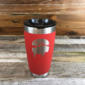 WyoMade Bison Moon Tumbler- Red