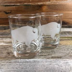 WYO Medium Old Fashioned Glass- Buffalo