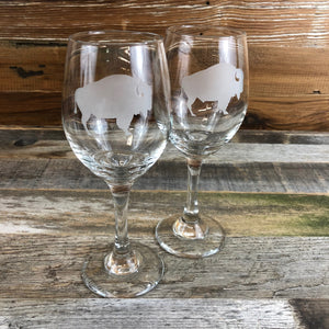 WYO Small Red Wine Glass- Buffalo