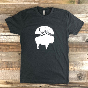 Bison Moon Tee | WyoMade Apparel | Unisex