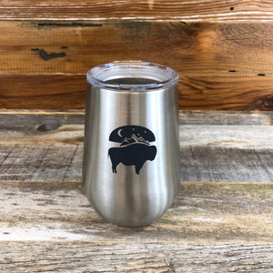 Bison Moon Wine Tumbler | 12 oz | Steel