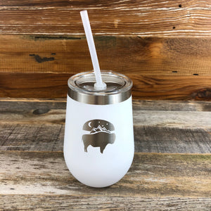 Bison Moon Wine Tumbler | WyoMade Accessories | 12 oz
