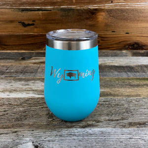 Wyoming Wine Tumbler | WyoMade Accessories | 12 oz