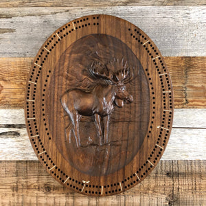 WYO Cribbage Board- Moose