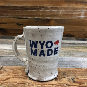 WyoMade | Logo Coffee Mug | Ceramic The reinvented WyoMade Logo is a modern twist on our long time iconic design from WyoMade!   The Bison represents freedom and is a staple of Wyoming's open spaces. This Wyoming made ceramic mug is sure to appease your desire to roam free.  Be a part of the herd with a WyoMade Logo coffee mug.