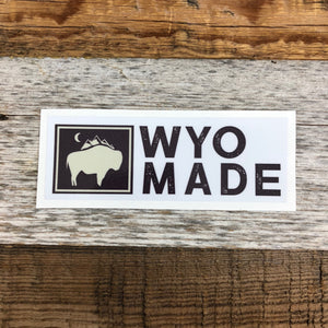 Bison Moon Long Tag - Logo | WyoMade Accessories | Sticker / Decal