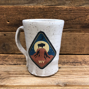 Tower Bison Coffee Mug | WyoMade Accessories | Ceramic
