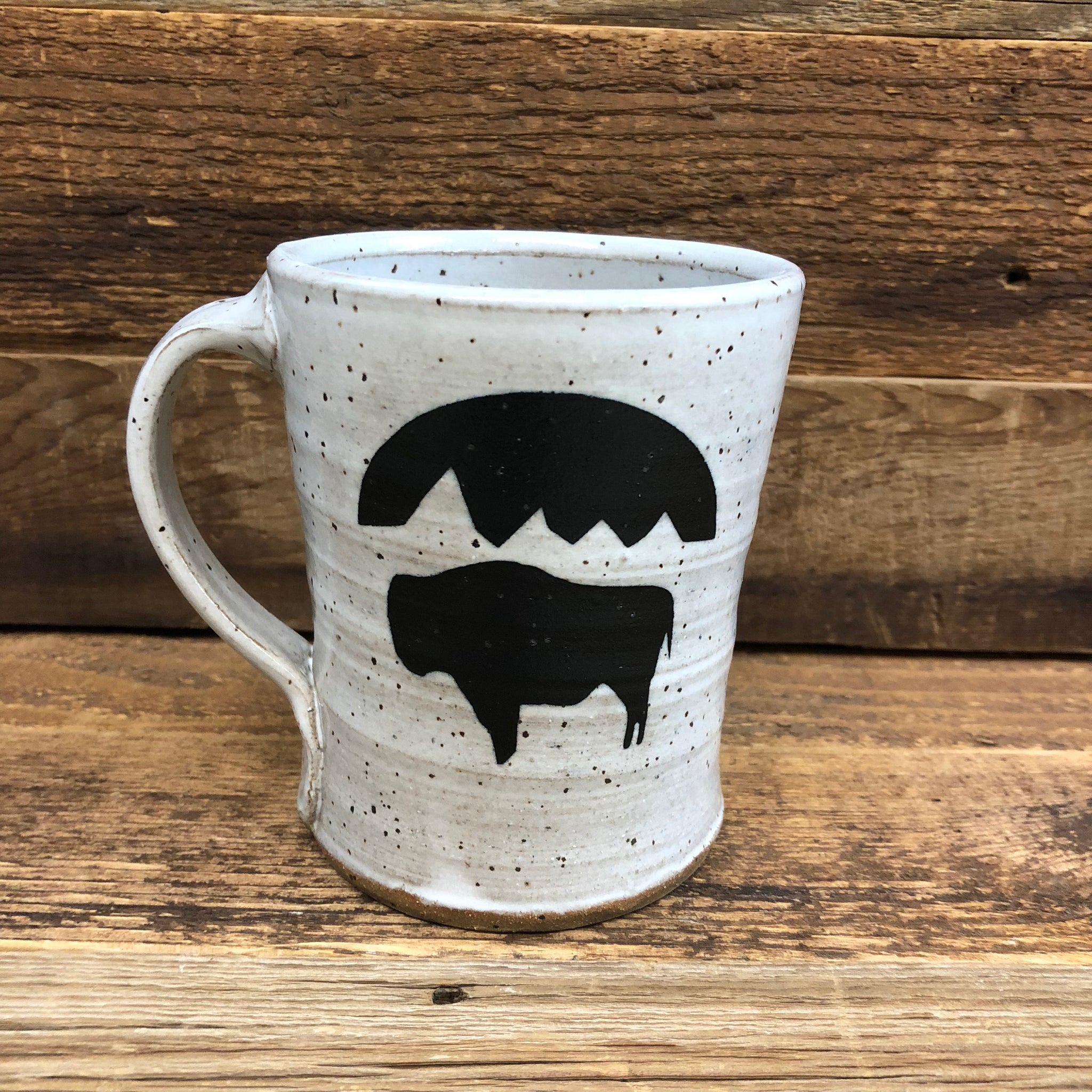 Bison Moon Coffee Mug | WyoMade Accessories | Ceramic
