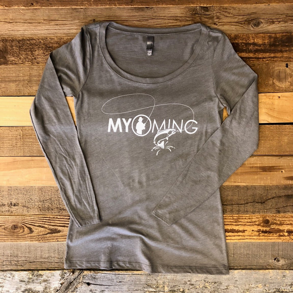 Women's Fish Myoming Long Sleeve- Venetian Grey