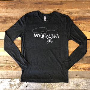 Men's Fish Myoming Long Sleeve- Vintage Black