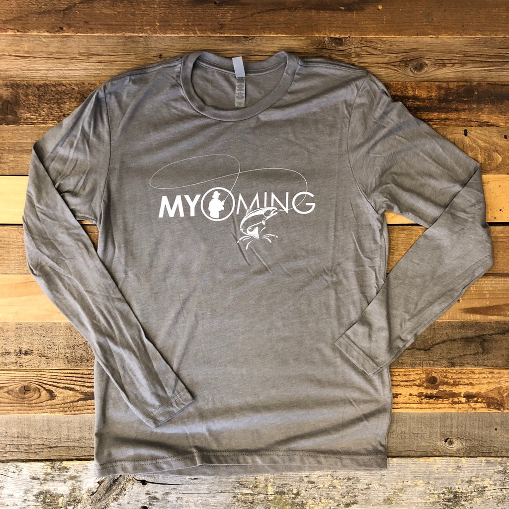 Men's Fish Myoming Long Sleeve- Venetian Grey