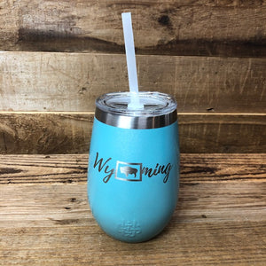 Wyoming Wine Tumbler | 12 oz | Tiffany Rainbow