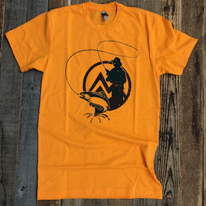 Men's The Myoming Angler Tee- Orange